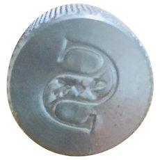 "Hallmark Letter ""S"" Sealing Wax Stamp Art Deco Font"