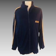 University of Michigan Maize and Blue Jersey Zip Front Jacket,  1980s