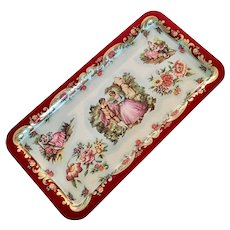 Vintage Daher Decorated Courting Couple Tin Tray, England