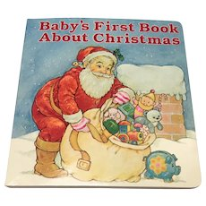 Hallmark Vintage Baby's First Book About Christmas, 1980's