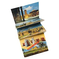 Vintage Mini Postcard Folder from Egypt Lehnert  & Lanrock, K. Lambelet & Co.