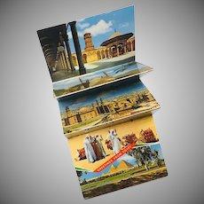 Vintage Mini Postcard Folder from Egypt Lehnert  & Lanrock, K. Lambelet & Co.