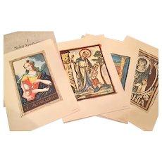 Saint Apollonia 4 Prints Royal School Of Dentistry, Stockholm / Astra Pharmaceuticals 1960's.