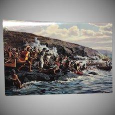 American Hawaii Cruises Menu Herb Kane Artist  The Death of Captain Cook