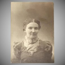 Antique Black and White Portrait of a Gentlewoman