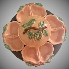 Belmar Pottery California Vintage Lazy Susan Serving Bowl Pear Dish Serving Set
