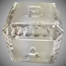 Waterford Crystal Alphabet Baby Block, 1990's