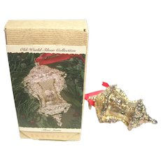 Hallmark Silver Santa 1993 Old World Showcase Christmas Ornament  Original Box