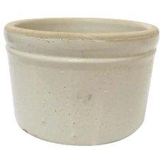 Antique Small Salt Glazed Stoneware Butter Crock