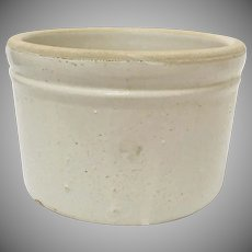 Antique Small Salt Glazed Stoneware Butter Crock
