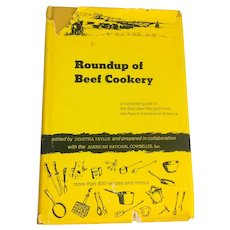 Roundup of Beef Cookery 1st Edition Demetria Taylor with the American National Cowbelles 1960