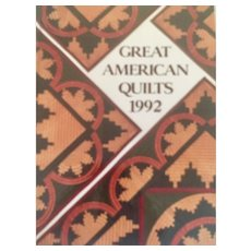 Great American Quilts 1992 Sandra L. O'Brien 1st Edition Oxmoor House