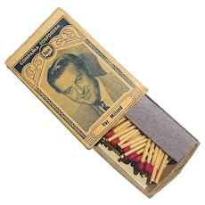 Ray Milland Mona Freeman Hollywood Stars  Lux Matchbox Hecho en Cuba 1940's