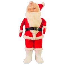 Vintage Santa Molded Plastic Felt Mid Century  Japan