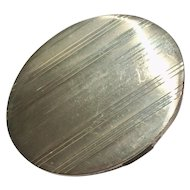 Art  Deco Sterling Silver Compact with Mirror Screen Powder Puff