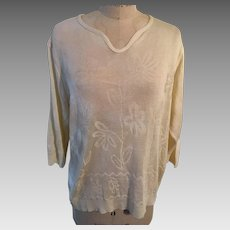 Penman's Plus Women's Vintage Jacquard Sweater - Canada - Original Tag 1970's