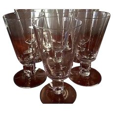 "Cambridge Square ""Cube"" MCM set of 8 Manhattan/Juice Glasses, circa 1951"