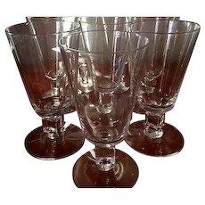 """Cambridge Square """"Cube"""" MCM set of 8 Manhattan/Juice Glasses, circa 1951"""