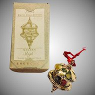 1994 Christmas Ornament Expo Collection Golden Sleigh Hallmark Showcase Keepsake