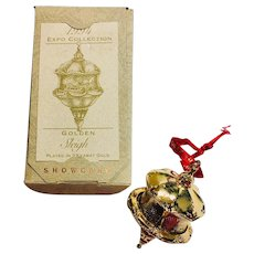 1994 Christmas Ornament Expo Collection Golden Sleigh Hallmark Showcase Keepsake