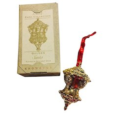 Golden Santa Expo Collection Hallmark Limited Edition 22 Karat Plated Christmas Ornament