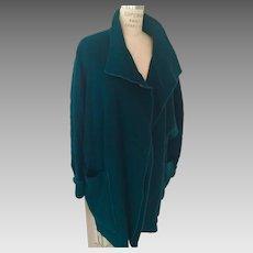 Vintage Merle Chicago Oversize Draped Wool Blanket Coat