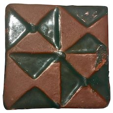 Antique Glazed Tile, Arts and Crafts Period