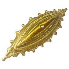 Edwardian 14 Karat Gold Plate Brooch Pin