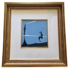 Yves Tanguy original Color Pochoir,First State, First Printing;Christian Zezvos, 1950 - Paris