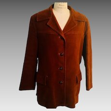 Dutch Men's Vintage Schuttersveld Velveteen Jacket Leather Buttons, 1950's- 60's