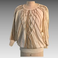 Carducci  Holiday Sweater with Gold, Champagne Embellishments, Beads