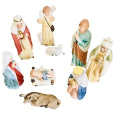 Homco 10 Piece Nativity Set Vintage Home Interiors Porcelain Nativity Set