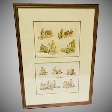 W.H. Pyne Compliation  Aquatint Prints  'The Costume of Great Britain' and Rustic Figures  1805 - 17