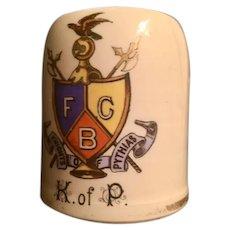 Knights of Pythias Small Early Mug Shaving Mug
