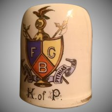 Knights of Pythias Small Early Mug Shaving Mug