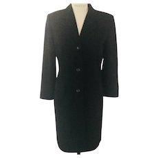 Banana Republic 1980's Black  Wool Coat Dress  Classic