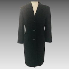 Banana Republic 1980's Black  Wool Coat Dress  Classic
