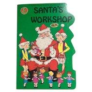 Vintage Honeybear Shape Santa's Workshop Board Book 1984 1st Edition
