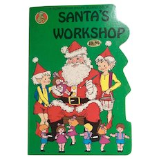 Vintage Honeybear Shape Santa's Workshop Board Book 1984 1st Edition