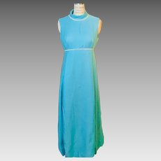 Claire Pearone Detroit/Paris Designer Evening Gown Empire Waist 1950's