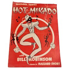 Michael Todd's Hot Mikado 1939 New York World's Fair Program Starring Bill Bojangles Robinson