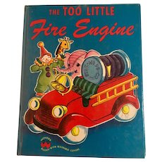 The Too Little Fire Engine, Wonder Book by Jane Flory 1950
