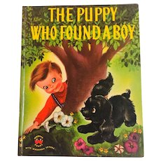 The Puppy Who Found A Boy Wonder Book by George and Irma Wilde, 1951