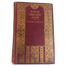Four Square Jane  by Edgar Wallace 1st Edition 1929