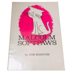 Malcom Softpaws by Joe Bascom Rare Children's Book  1967 Extremely Rare 1st Edition