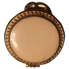 Renee' Enameled Solid Parfume Compact, partially filled, circa 1950's
