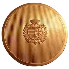 DuBarry/Richard Hudnut Rouge Powdrett (Compact,Powder,Puff)  Brass Embossed Crest 1940's