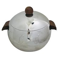 Mid Century Modern West End Penguin Ice Bucket Hot/Cold Server