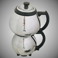 Sunbeam Coffeemaster # C30C Vintage Chrome & Black Vacuum Coffee Pot