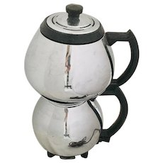 Sunbeam Coffeemaster # C30C Vintage Chrome & Black Vacuum Coffee Pot